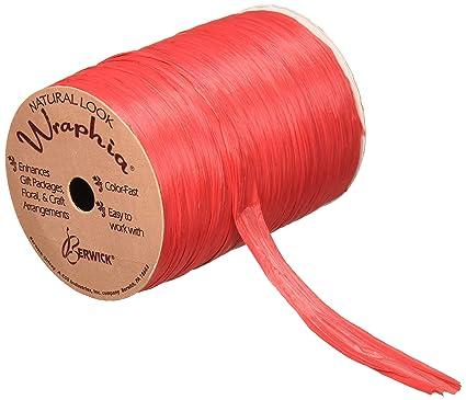Pearlized Red Raspberry Wraphia Ribbon