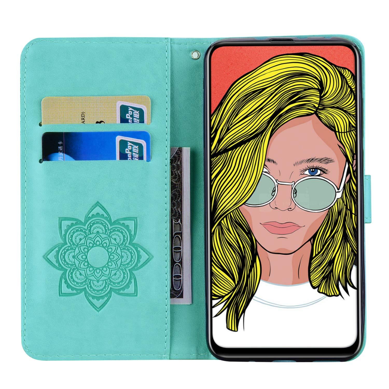 6 Hibou en Relief Cover pour Huawei P Smart Z Housse Flip Portefeuille TRBOL Coque Compatible Huawei P Smart Z Housse en Cuir