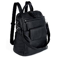 UTO Women Backpack 3 Way PU Leather Ladies Girls Rucksack Shoulder Travel School Bags