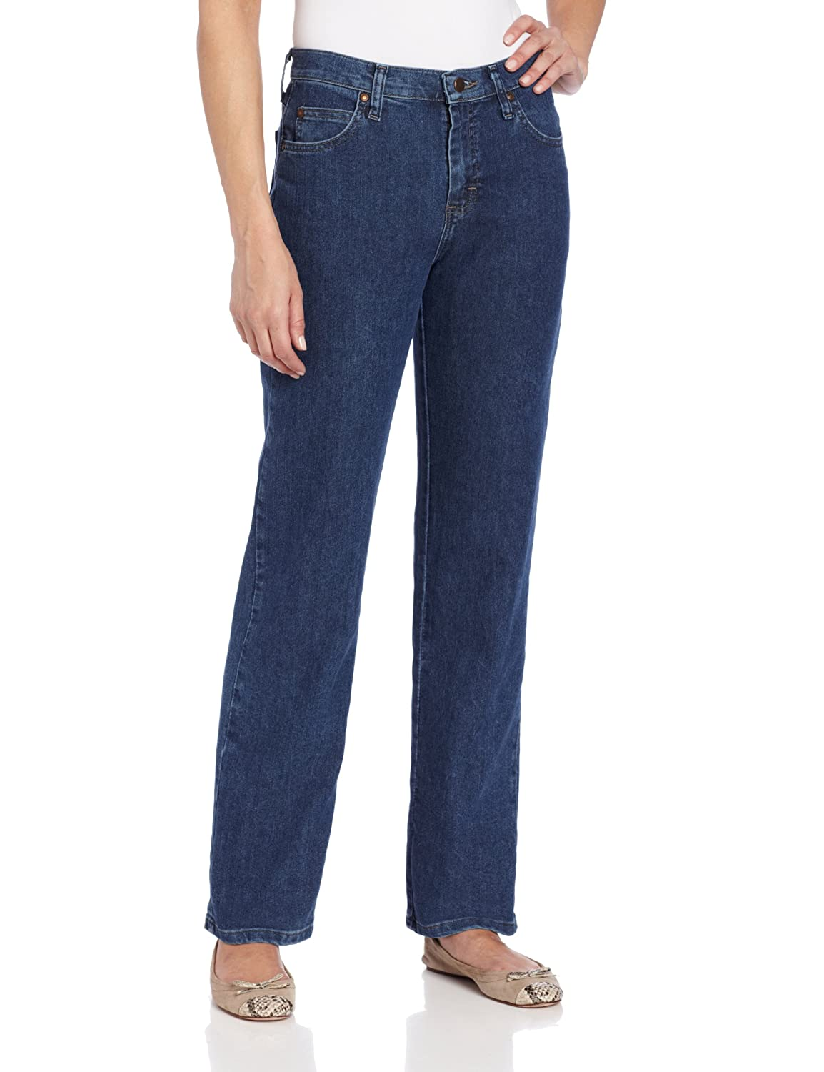 LEE Womens Petite Relaxed Fit Straight Leg Jean