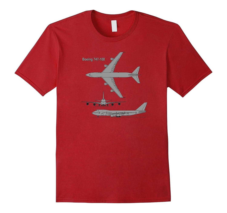 747 Airplane Hand drawn Graphic Tee Shirt plane t-shirt-CL