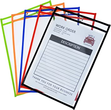 Reusable Dry Erase Pockets Set of 5
