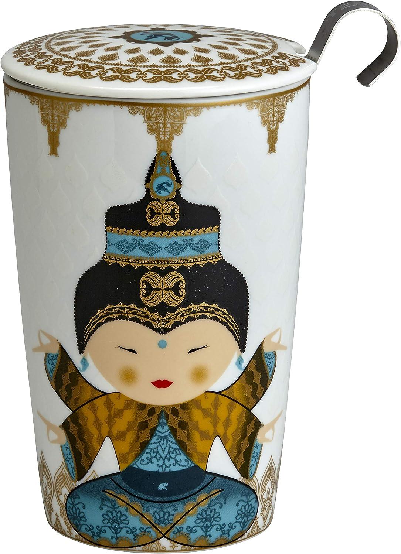 Little Ninja Rose Eigenart TEAEVE/® Teetasse mit Sieb und Deckel
