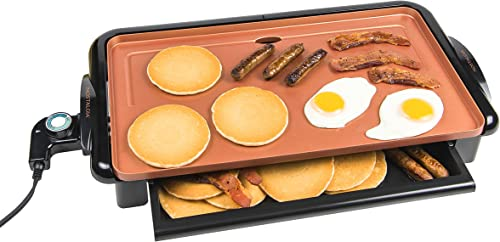 Nostalgia GD20C New and Improved Non-Stick Copper Griddle