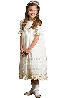 e16c744f400 Strasburg Children Lace Flower Girl Dress Vintage Heirloom Lace Dresses  White Ivory