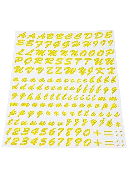 Quattroerre 1235 Kit Lettere Adesive Giallo Amazonit Auto E Moto
