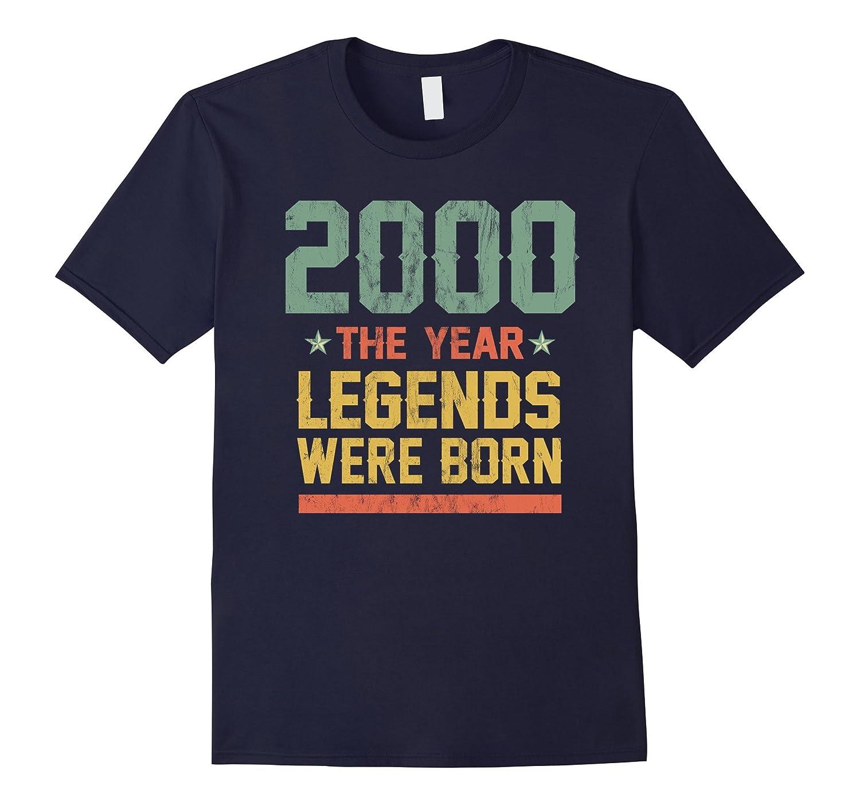 17th Birthday T-Shirt 2000 The Year Legends Were Born-4LVS