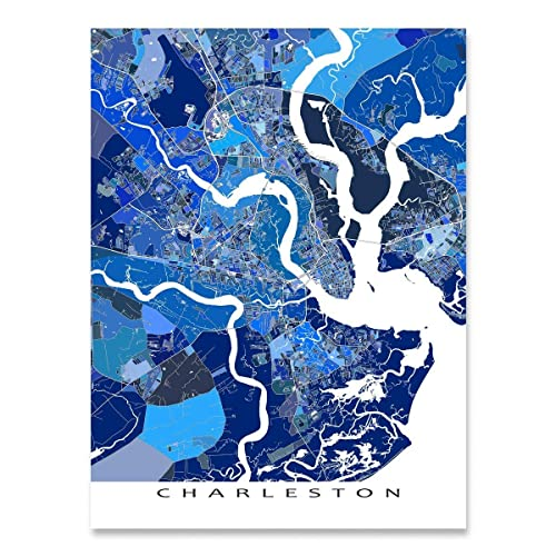 Amazon Com Charleston Map Print South Carolina Usa City Street