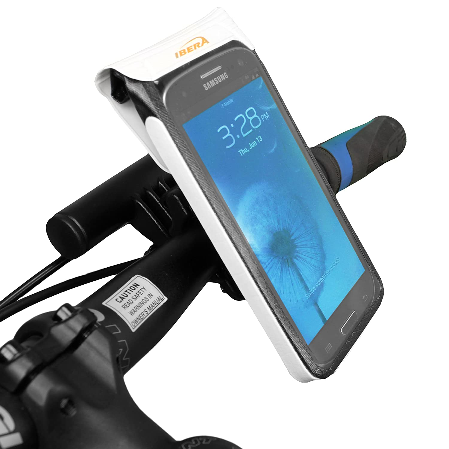 innovative design 218c4 8280b Amazon.com: Ibera Bicycle Waterproof Smartphone Case, White: Sports ...