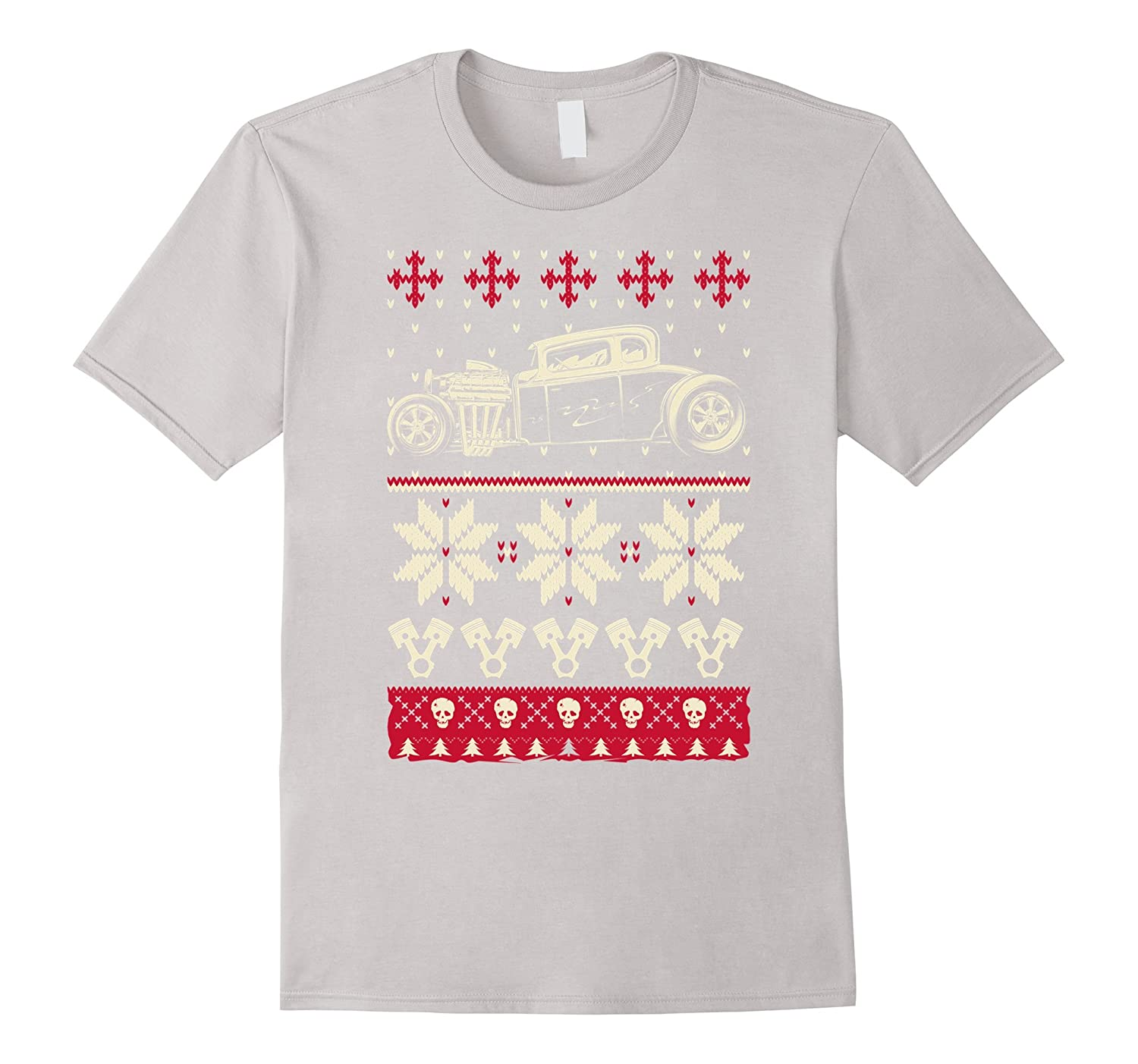 Ugly Hot Rod Christmas Sweater T-Art