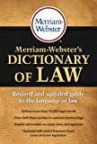 Merriam-Webster's Dictionary of Law, Newest Edition, Trade Paperback