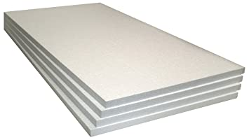 Expanded Polystyrene Foam Sheets, 4-Pack (48 X 24 X 1 Inch)