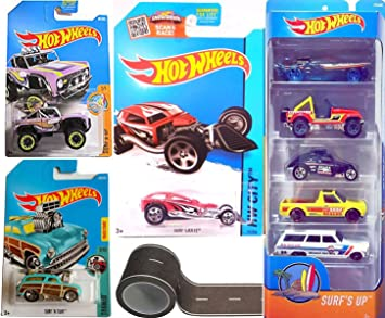 Amazon Com Surfing Set Hot Wheels Surf S Up Summer 5 Pack Cars