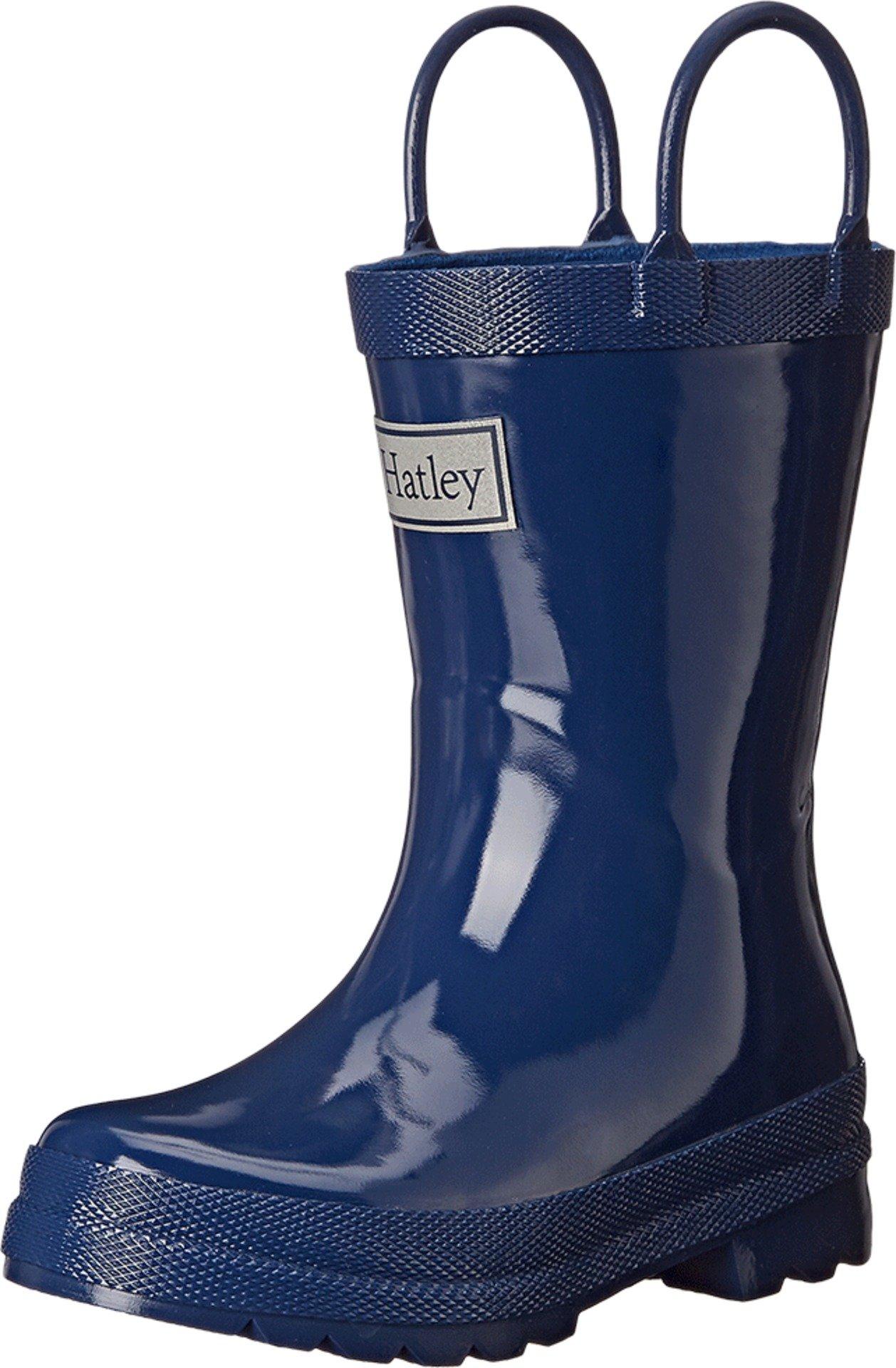 Hatley Kids Boy's Solid Rain Boot (Toddler/Little Kid) Navy Boot 7 Toddler M