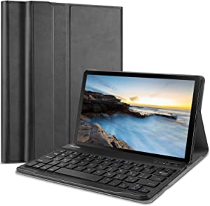 ProCase Galaxy Tab A 8.0 2019 Keyboard Case(SM-T290/T295 New Model), PU Leather Lightweight Smart Cover with Magnetically Detachable Wireless Keyboard for Galaxy Tab A 8.0 Inch 2019 -Black