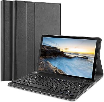 ProCase Funda con Teclado Americano Galaxy Tab A 8.0 2019 SM-T290 T295, Carcasa Delgada con Teclado Inglés Inalámbrico Desmontable Magnético para ...