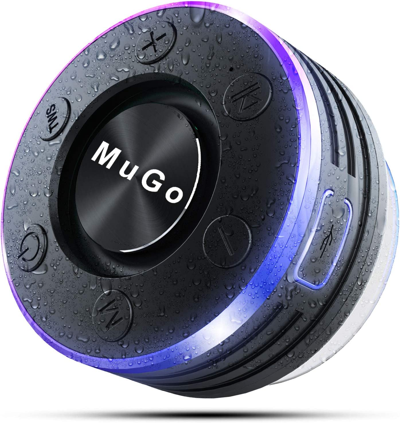 MuGo Bluetooth Speaker Wireless Speaker with Suction Cup