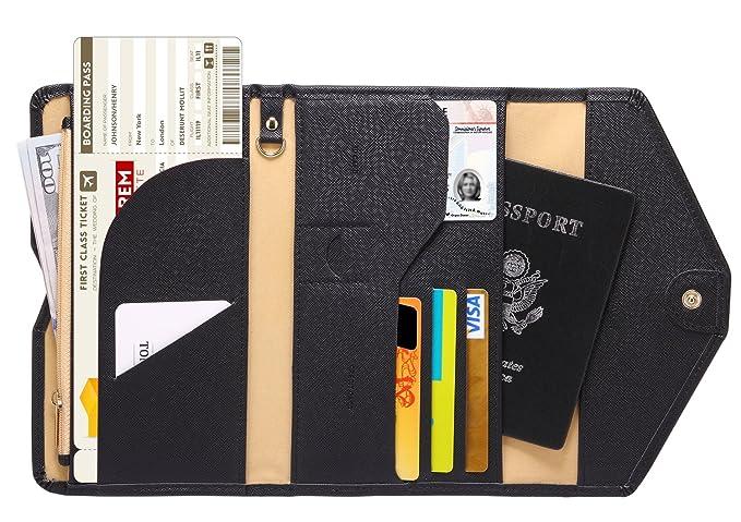 84d454b85 Zoppen Multi-purpose Rfid Blocking Travel Passport Wallet (Ver.4) Tri-