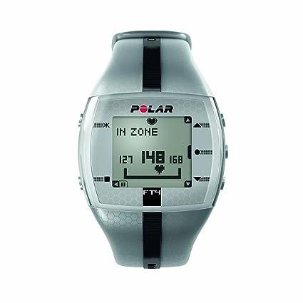 Amazon Polar Ft4 Heart Rate Monitor Watch Silver Black