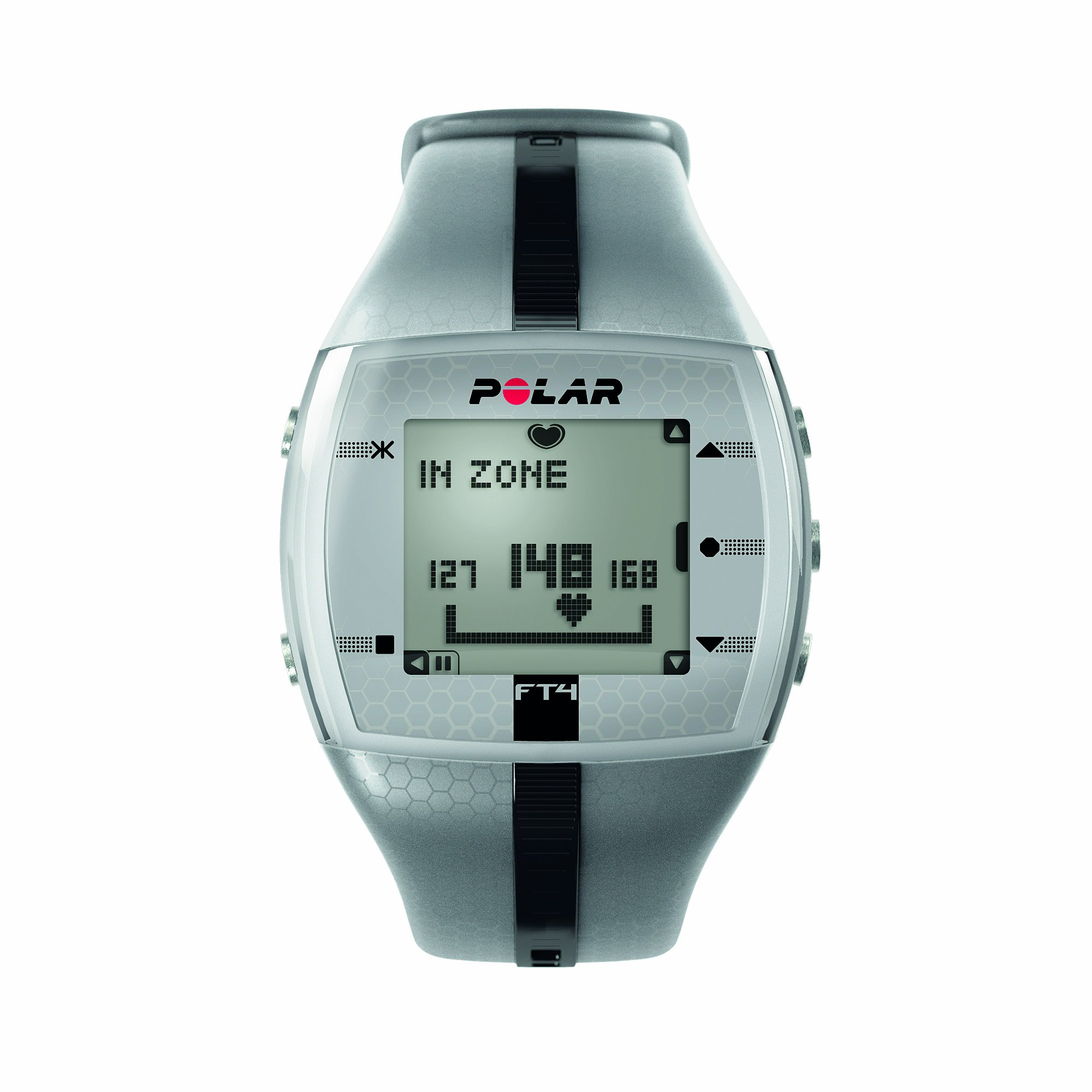 Polar FT4 Heart Rate Monitor Watch (Silver / Black) by Polar