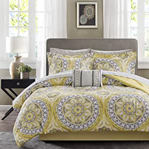Madison Park Essentials MPE10-147 Serenity Complete Bed and Sheet Set Queen Yellow