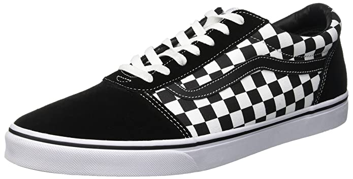 Vans Herren Ward Suede/Canvas Sneaker Schwarz/Weiß Kariert