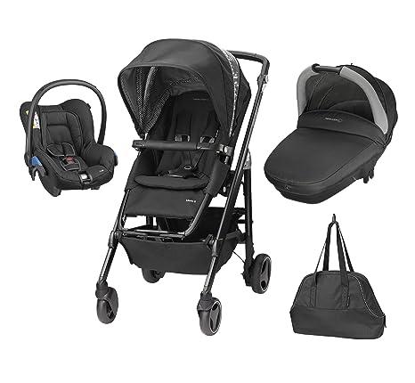 Bébé Confort Loola Excel - Cochecito de paseo, 3 piezas, color negro brillante