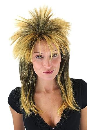 Party Fancy Dress Halloween retro Wig 70ies 80ies ROCK Glam Hardrock Metal  Goth 369846efa4
