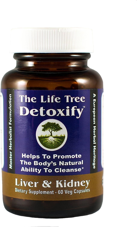 Detoxify Liver Kidney Natural Herbal Detox Cleanse, 60 Vegetable Capsules