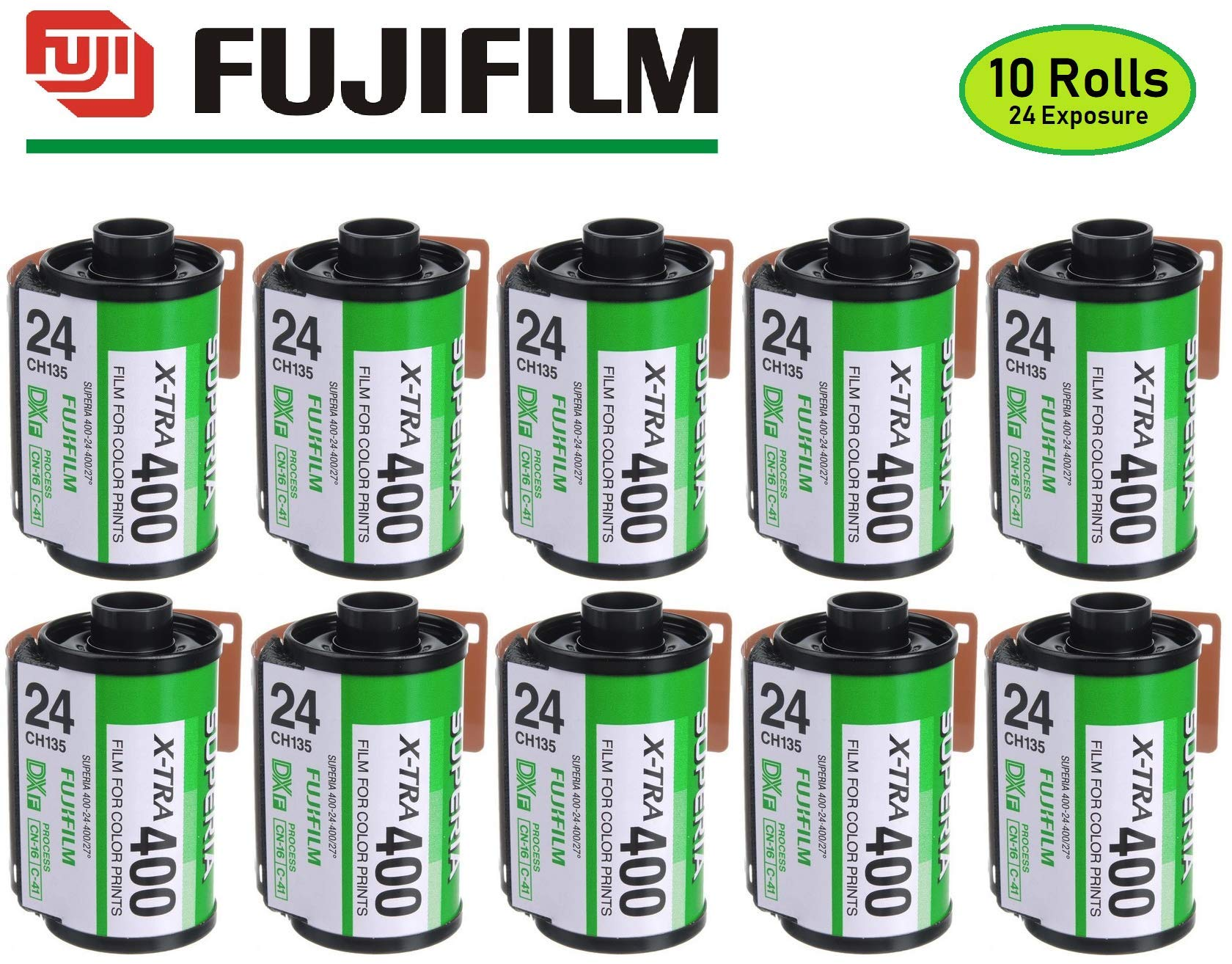Fujifilm Fujicolor Superia X-TRA 400 35mm Film 24 Exposure - 10 Pack (Discontinued by Manufacturer)
