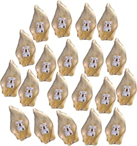 Barking Buddha Original - All Natural Great Taste - No Additives Gluten Free - Premium Dog Chews - Large Cow Ears 20 Pack Natural Individually Wrapped