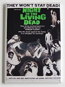 Night of the Living Dead Movie Poster Fridge Magnet (2 x 3 inches)