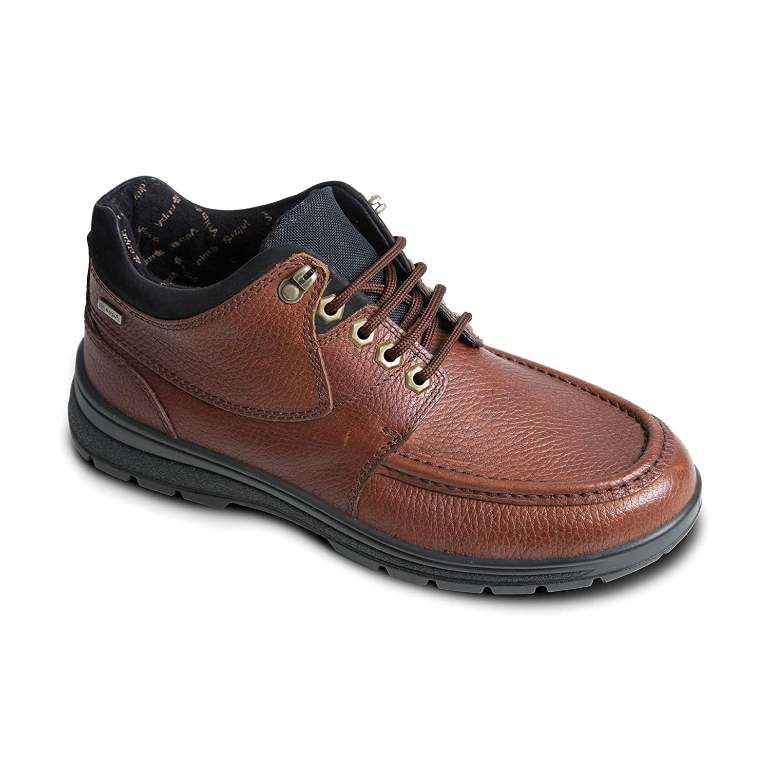 Tan Cog Camel Padders Men's Waterproof Leather Boot 'Crest'   Made in Britain   Dual Fit System   Extra Wide G-H Fit  35mm Heel Height   Free Footcare UK shoes Horn