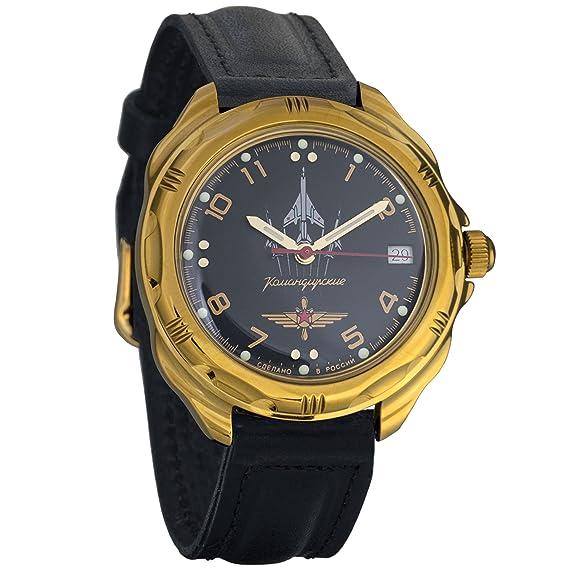 Vostok KOMANDIRSKIE 2414 219511 Militar ruso reloj mecánico: Amazon.es: Relojes