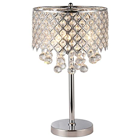 Chrome round crystal chandelier bedroom nightstand table lamp 3 chrome round crystal chandelier bedroom nightstand table lamp 3 light fixture aloadofball Images
