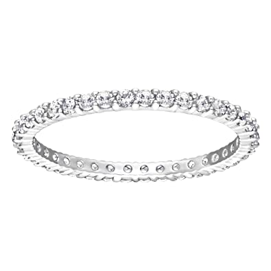 3472a5150 Swarovski Vittore Ring, White, Rhodium plating: Amazon.co.uk: Jewellery