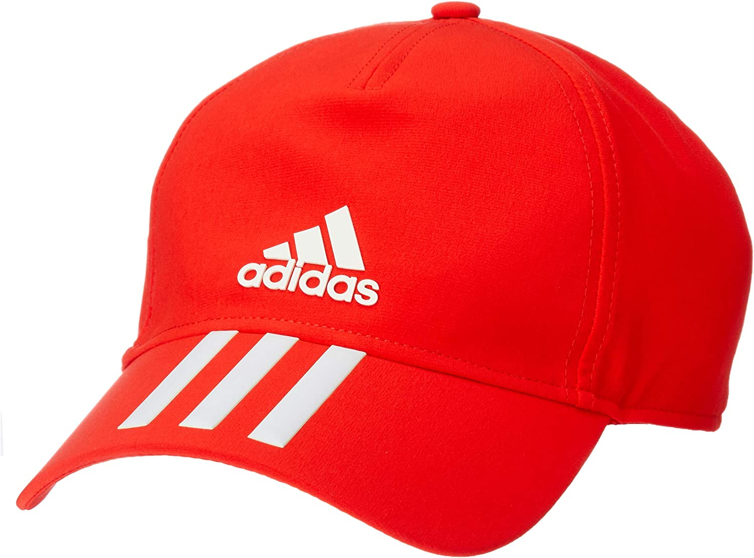 adidas 6 Panel 3 Stripes Climalite Casquette Homme Active RedWhite FR : Taille Unique (Taille Fabricant : OSFM)