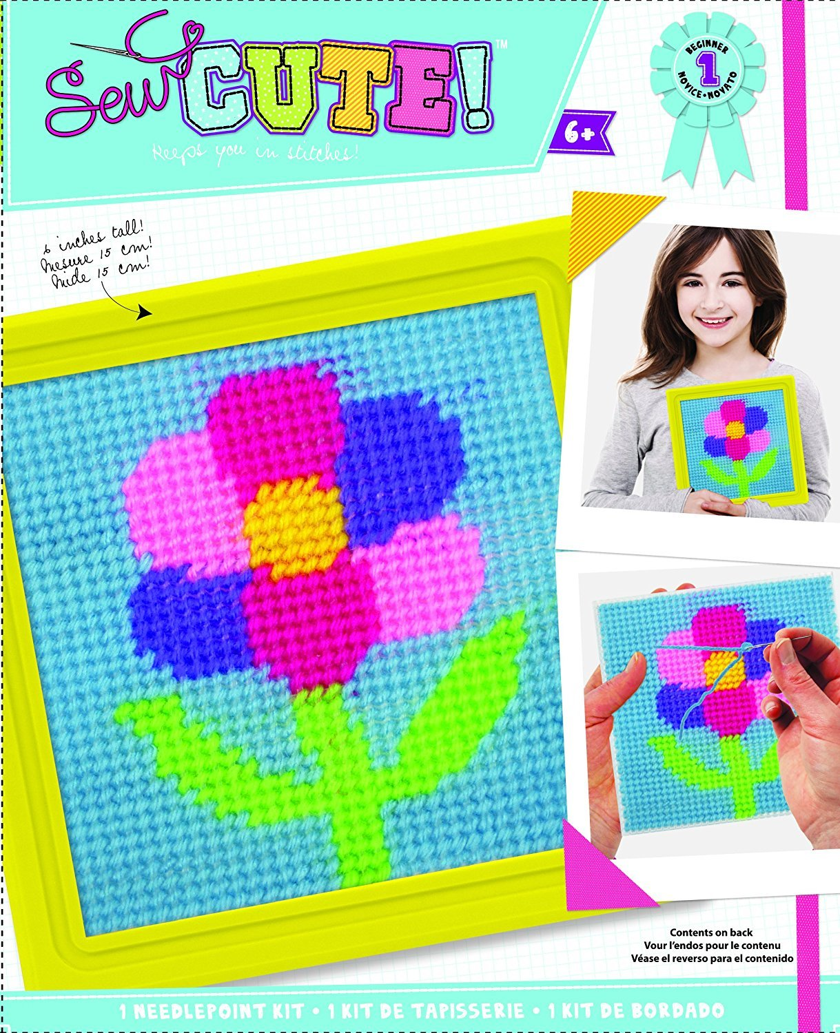 Colorbok 2347TA Learn to Sew Needlepoint Kit, Flower