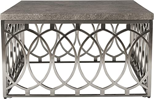 New Classic Furniture Occasional Grace Cocktail Table, Grey, Wood