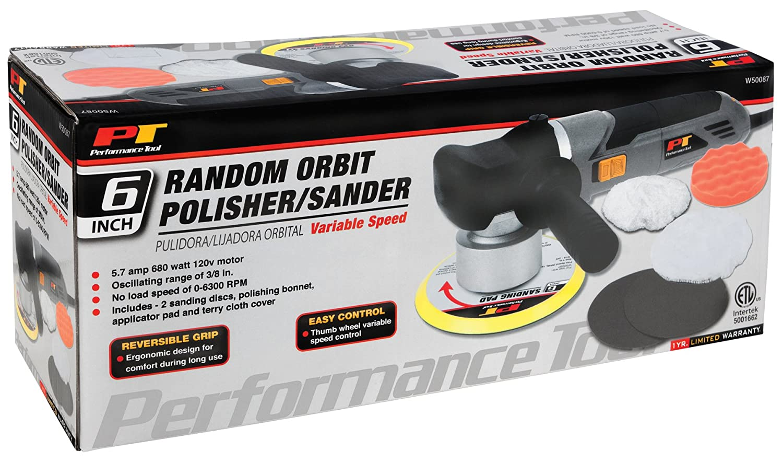 Performance Tool W50084 7 Variable Speed Sander//Polisher
