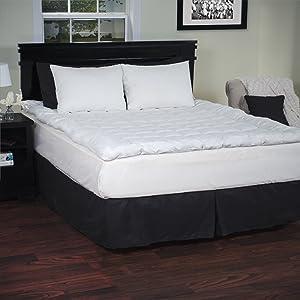 Lavish Home 233 Thread Count Down Alternative Bedding Topper, Queen