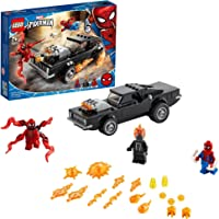 LEGO 76173 Spider-Man and Ghost Rider vs. Carnage met Bouwbare Auto Speelgoed, Marvel Super Heroes Set