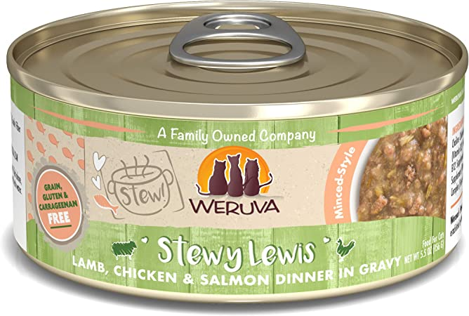 Amazon Com Weruva Classic Cat Stews Stewy Lewis With Lamb Chicken Salmon In Gravy 5 5oz Can Pack Of 8 Pet Supplies