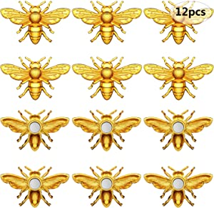 12 Pieces Bees Refrigerator Magnets Bees Fridge Magnets Cute Bee Whiteboard Magnets for Office Whiteboard Fridge Decorations Supplies