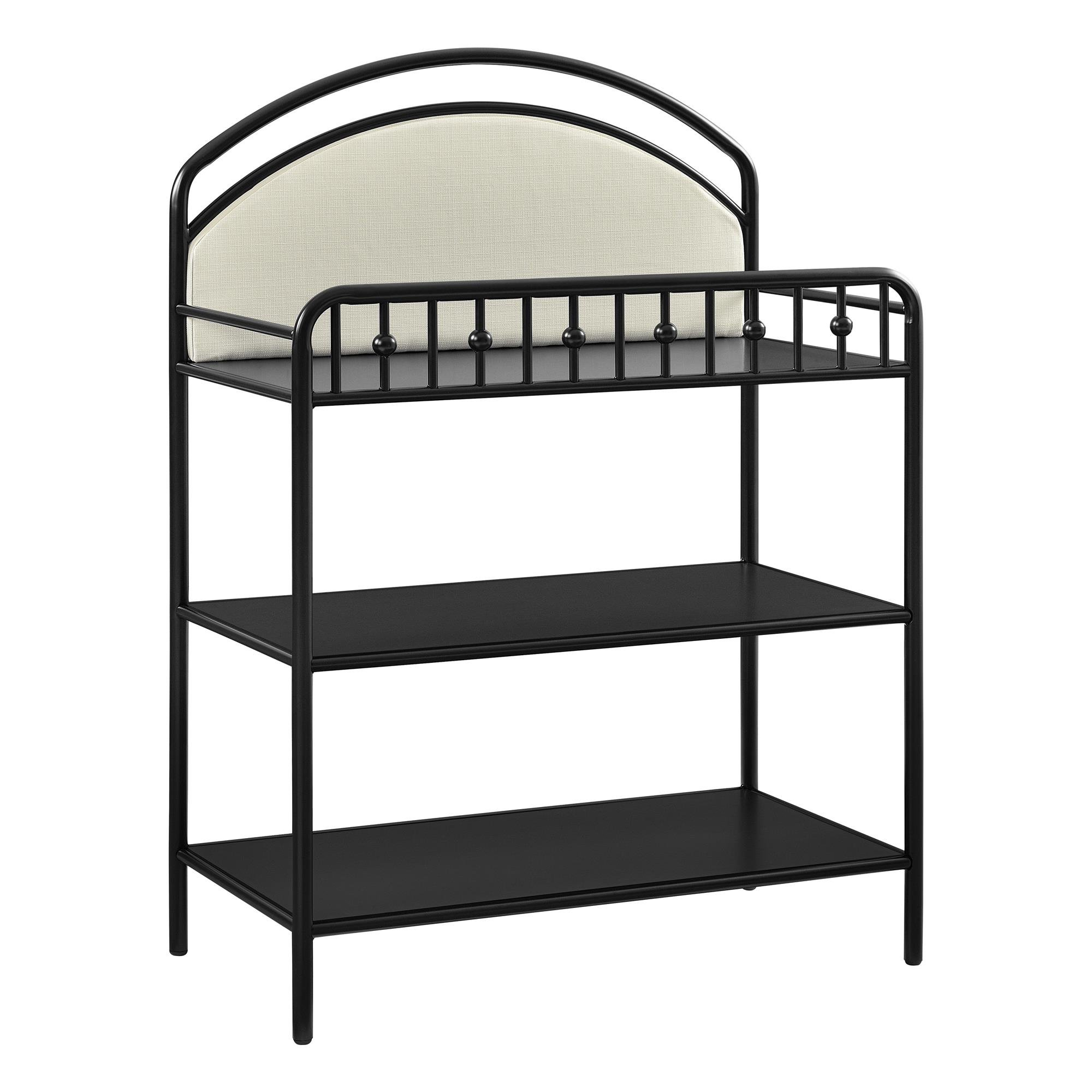 Little Seeds Rowan Valley Lotus Upholstered Metal Changing Table, Black