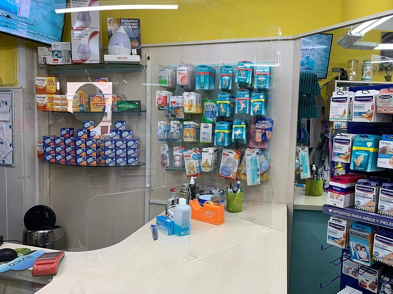Mampara Metacrilato 100x90cm para farmacias, oficinas y Comercio ...