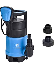 """FLUENTPOWER 3/4 HP Sump Pump with Max Flow 3300 GPH for Dirty/Clean Submersible Water Pump with Revocable Function of Float Switch, Included 3/4"""" Garden Hose Connector for Pond, Garden, Swimming Pool"""