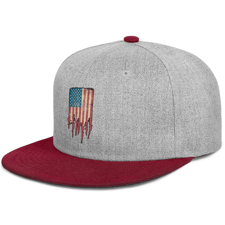 FYFYOK Mens Women Trucker Hat America USA Flag Made of Guns and Rifles Snapback Adjustable Cap