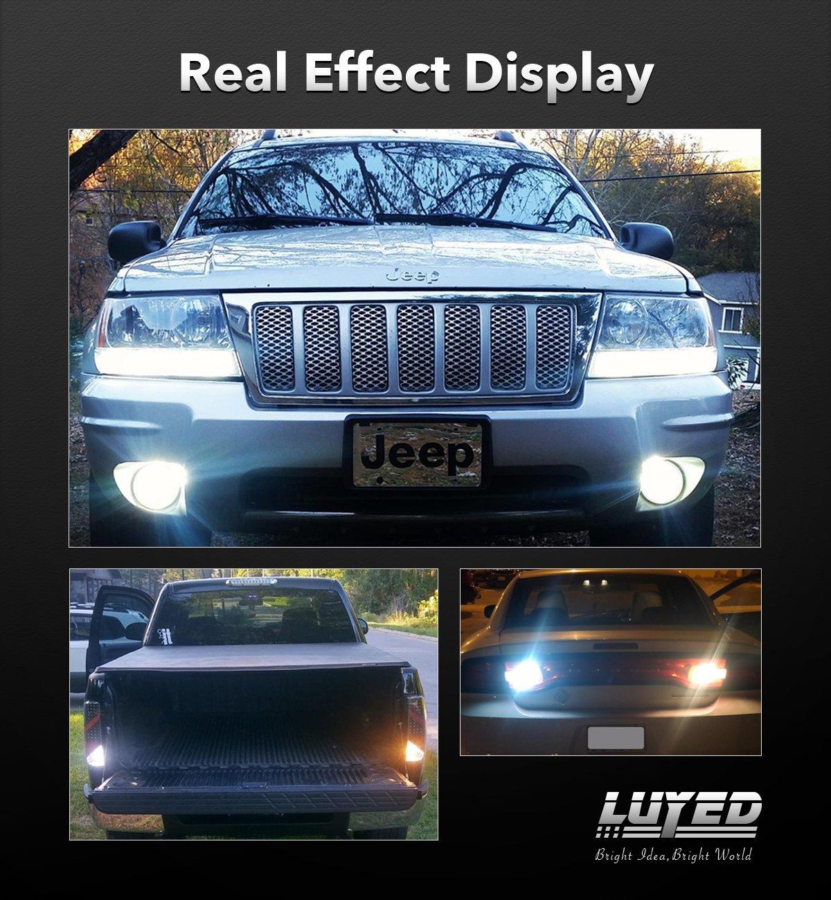 LUYED 2 x Super Bright 9-30v 3156 3057 3157 4157 LED Bulbs Used for Back Up Reverse Lights,Brake Lights,Tail Lights,Xenon White