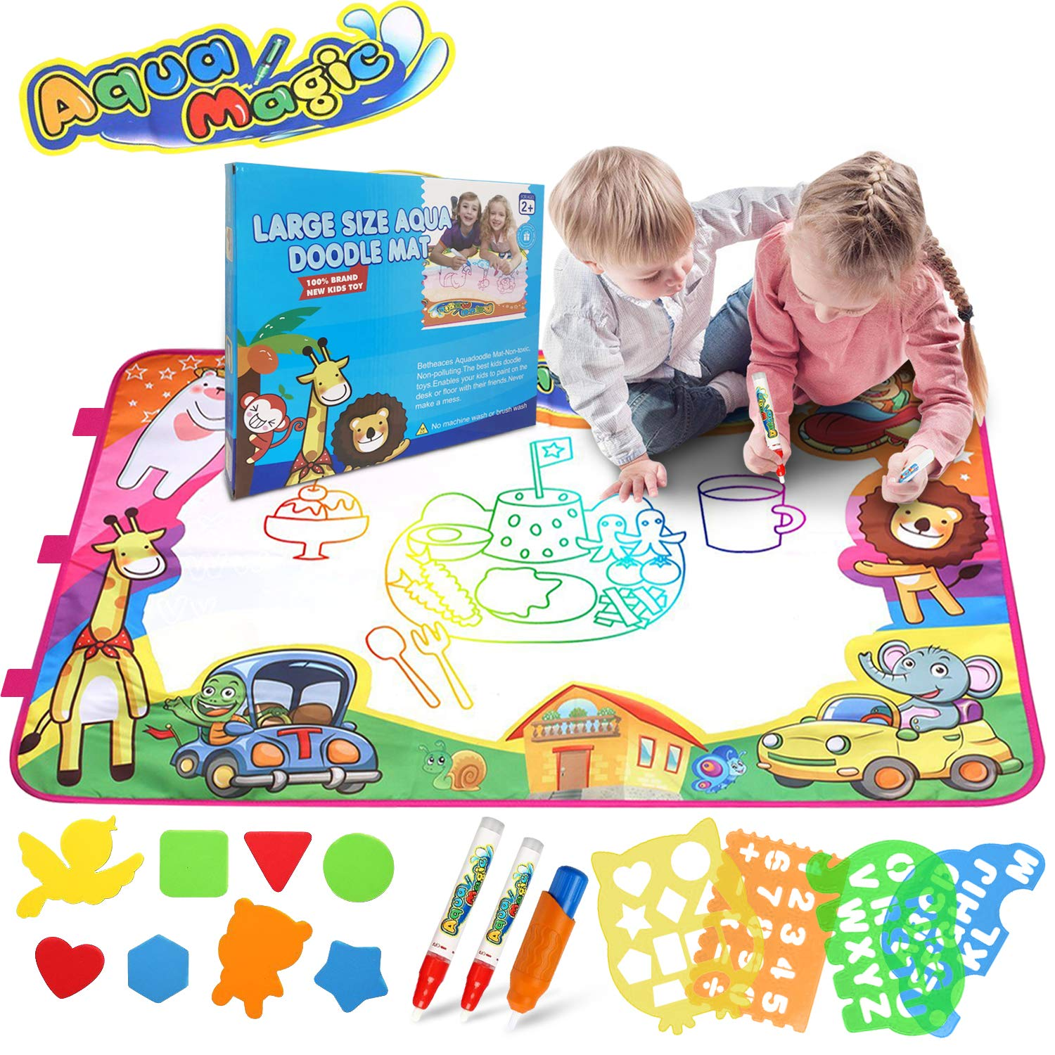 Amazon Com Bigear Aqua Magic Mat Kids Toys Large Water Drawing Mat